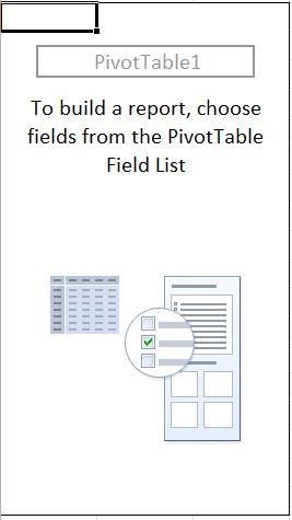 Blank Pivot Table