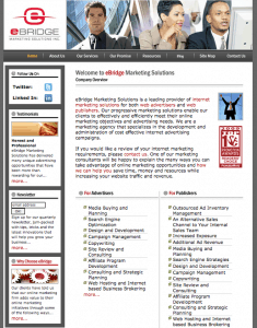eBridge web design 2