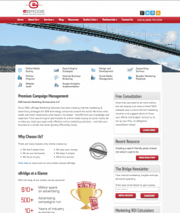 eBridge web design 4