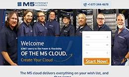 M5 Hosting - Landing Pages