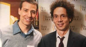 eBridge founder Hartland Ross meeting author Malcolm Gladwell.